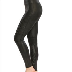 SPANX Faux Leather Moto Leggings NWOT